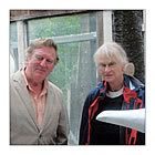 Alan Cotton with Bridget McCrum at her studio.