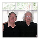 Alan Cotton with Ken Howard RA at his London studio.