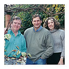 Alan Cotton with adventurer and explorer David Hempleman-Adams & his wife Claire, at Brockhill Studio.