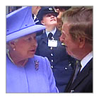 Alan with Her Majesty the Queen at the Opening of The Forum, University of Exeter, 2nd May 2012