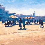 Morocco - The Square in Marrakech at Midday