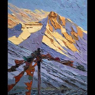 Tibet - Prayer Flags at Everest Base Camp